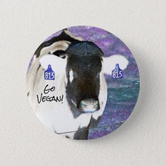 Go Vegan Cow Button