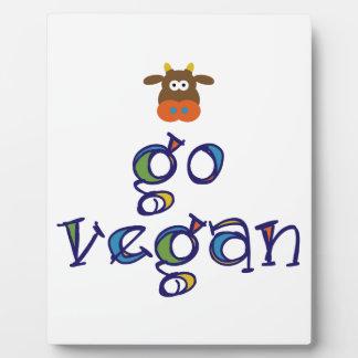 Go Vegan Plaque