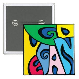 GO VEGAN - Style 1 15 Cm Square Badge