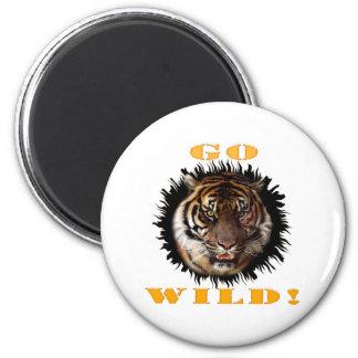 Go Wild Tiger 6 Cm Round Magnet