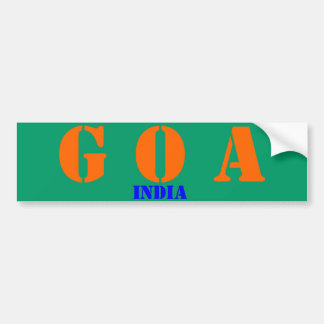 Goa India Bumper Sticker
