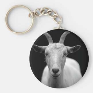 Goat Basic Round Button Key Ring