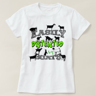 GOAT HUMOR | Cute Easily Distracted by Goats T-Shirt