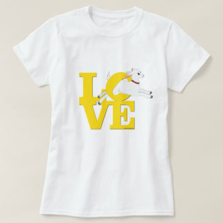 GOAT LOVER | YELLOW Goat L O V E - White Goat T-Shirt