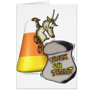 Goat Trick or Treat Halloween Gifts Greeting Card