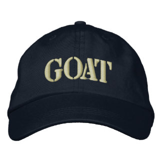 GOATS EMBROIDERED BASEBALL CAPS