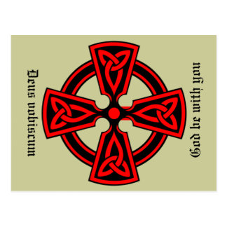 God Be With You Latin Celtic Cross Postcard