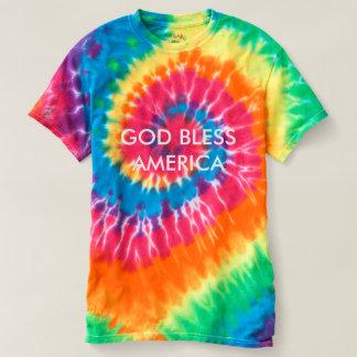 GOD BLESS AMERICA Customizable Tie-Dye T-Shirt