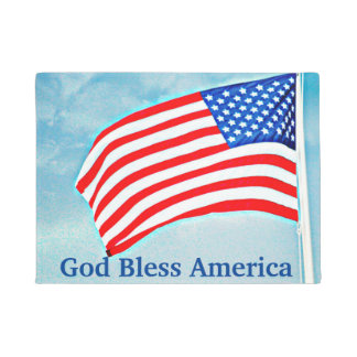 God Bless America Door Mat