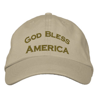 God Bless America Embroidered Patriotic Hat Embroidered Baseball Cap
