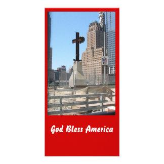 God Bless America Custom Photo Card