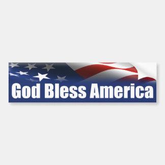 God Bless America - USA Bumper Sticker