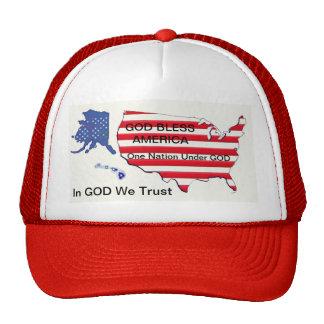 GOD Bless One Nation We Trust Trucker s Hat