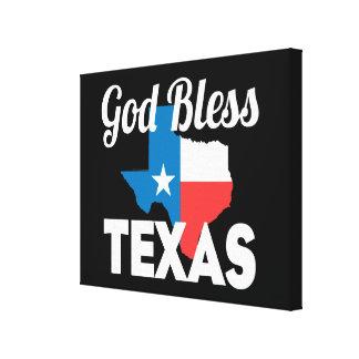 God Bless Texas Canvas Print
