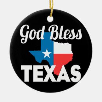 God Bless Texas Christmas Ornament