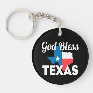 God Bless Texas Key Ring