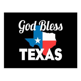 God Bless Texas Postcard