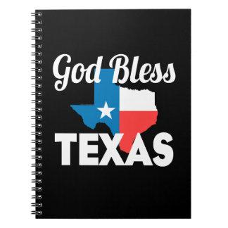 God Bless Texas Spiral Notebook