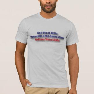 God Bless USA T-Shirt : NATO Phonetics
