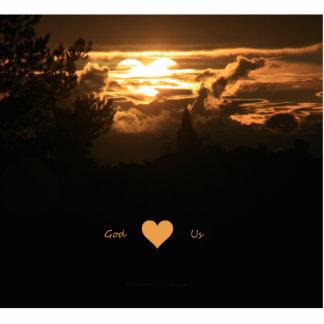 God Heart Us Standing Photo Sculpture