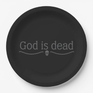 God is dead paper plate