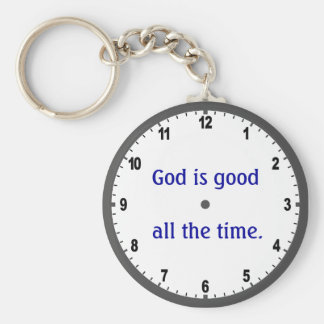 """""""God is good all the time"""" keychain"""