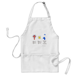 God is Great, Beer is Good, and People are Crazy! Standard Apron