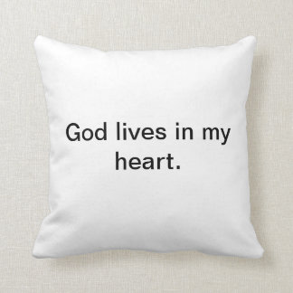 God is in my heart pillow