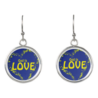 God is Love Earrings