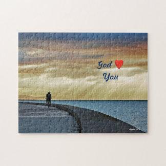 God love you. jigsaw puzzle