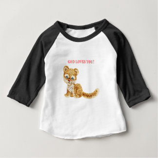 God Loves You Adorable Jungle Wildcat Cheetah Baby Baby T-Shirt