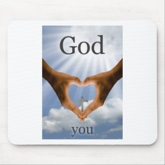 God Loves You Mouse Pad