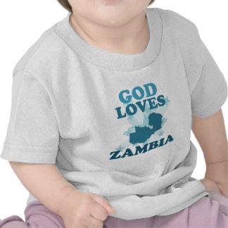 God Loves Zambia Tshirts