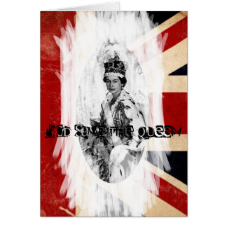 God Save the Queen punk/grunge Card