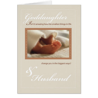 Goddaughter & Husband Congratulations New Baby Fee Card