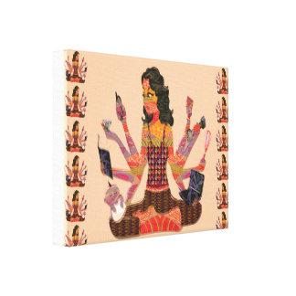 Goddess - Modern Women Miracle Life Style Identity Canvas Print