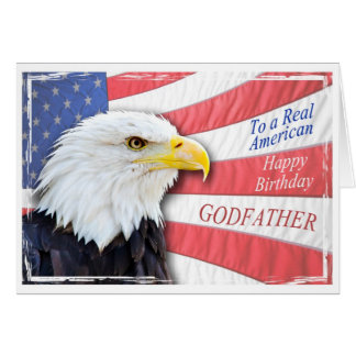 Godfather, a patriotic birthday card