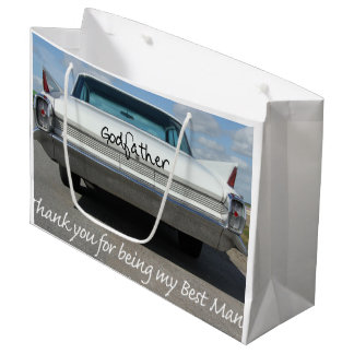 Godfather best man thank you large gift bag
