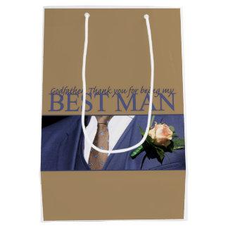 Godfather best man thank you medium gift bag