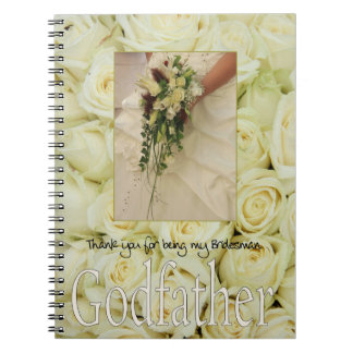 Godfather Bridesman thank you Spiral Note Books