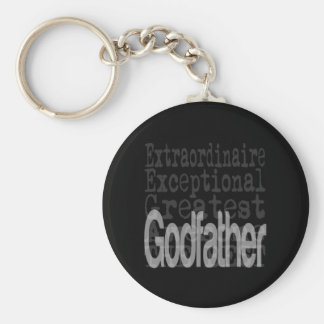 Godfather Extraordinaire Basic Round Button Key Ring