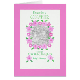 Godfather for Baby Daughter Invitation Photo Card