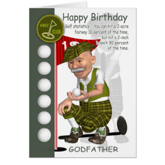 Godfather Golfer Birthday Greeting Card With Humor