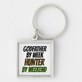 Godfather Hunter Silver-Colored Square Key Ring