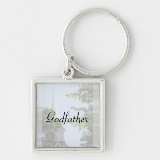 Godfather keyring Silver-Colored square key ring