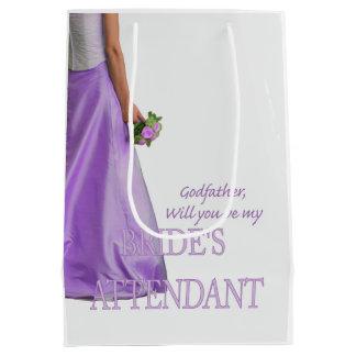 Godfather  Please be bride's attendant Medium Gift Bag
