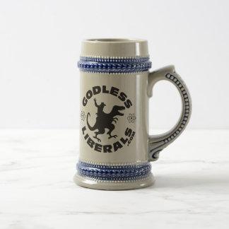 Godless Liberals Official Logo Beer Stein Mugs