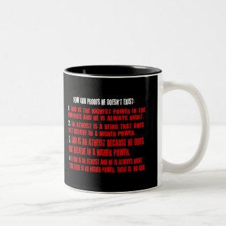 Godless Logic Two-Tone Mug