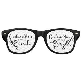 Godmother of Bride Black Retro Sunglasses