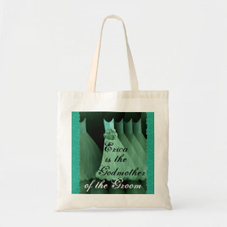 Godmother of the Groom Green Bridesmaid Dresses Tote Bag